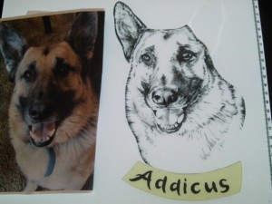 Custom Pet Portraits in pictorial painted stained glass