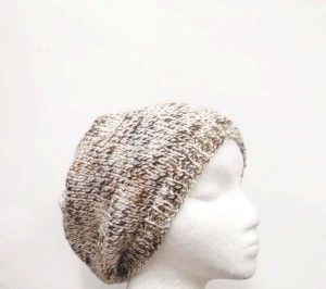 Beanie hat hand knitted marble–15% off all items