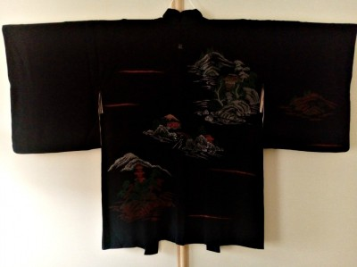 Black-silk-kimono-jacket-Japanese-haori-for-men-and-women-embroidered-scenic-kimono-cardigan_8
