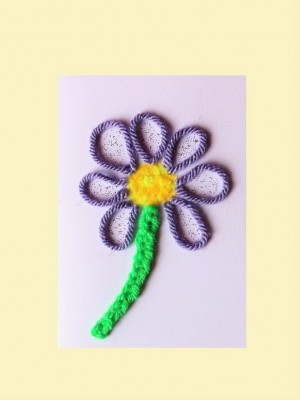 Hand made Flower card for any occasion