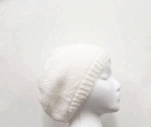 Knitted white beanie hat SALE SALE SALE