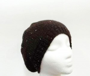 Brown Beanie hat with sparkle SALE SALE SALE