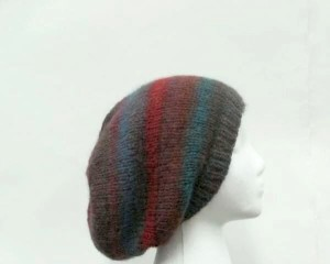 Colorful slouchy beanie hat