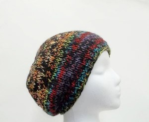 Knit beanie hat colorful