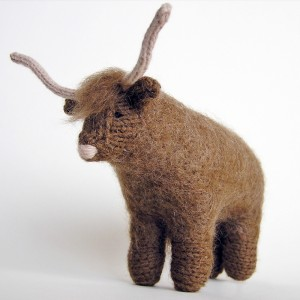 Knitted Highland Cow toy