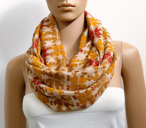 Chunky Beige Infinity Scarf Shawl Red Summer Scarf Viscose Fashion Scarves for Women Circle Cowl Scarf Long Loop Tube Scarf Gift for her