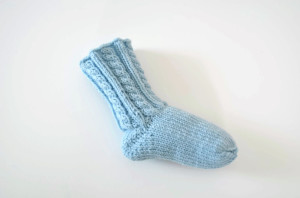 Knitted newborn socks