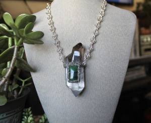 Quartz & Malachite Necklace