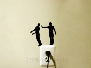 funny stickers silhouettes