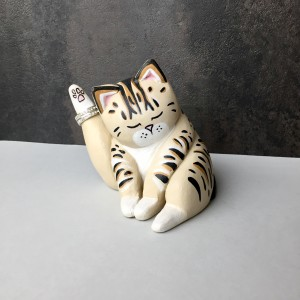 Ring Holder, Cat Lover Gifts For Women Tabby Cat Sculpture Wedding Gift Ring Storage Cute Cubicle Office Decor Quirky Home Art Decor