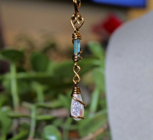 Aqua & Angel Aura Quartz Necklace