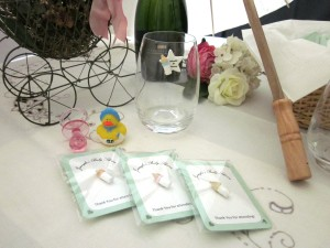 10 pc Personalized Wine Charm Favors for Baby Shower