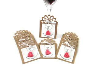 10 pc Wine Charm Favors for Weddings