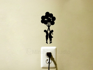 banksy balloons stickers