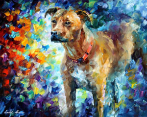 BEST FRIEND DOG — oil painting on canvas