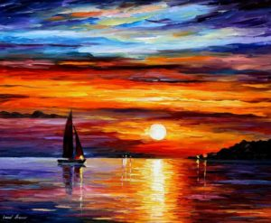 QUIET SUNSET — PALETTE KNIFE Oil Painting