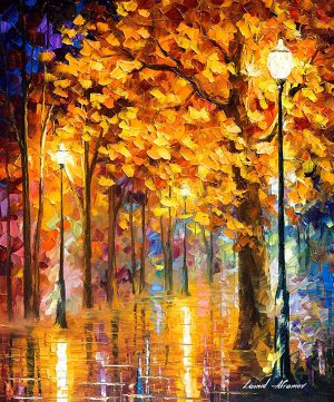 AUTUMN TREES — oil painting
