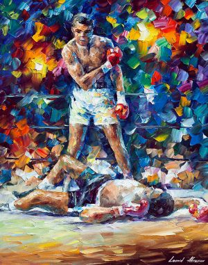 Boxer — oil painting
