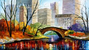 CENTRAL PARK – NEW YORK CITY — Oil Painting