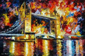 LONDON – TOWER BRIDGE — oil painting