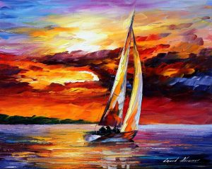 LONG SAIL — oil painting