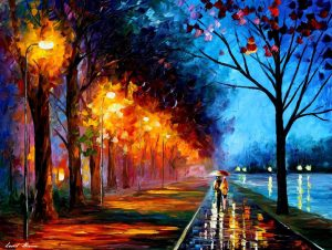 RAINY ALLEY BY THE LAKE —  Oil Painting