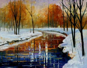 THE ENERGY OF WINTER — oil painting