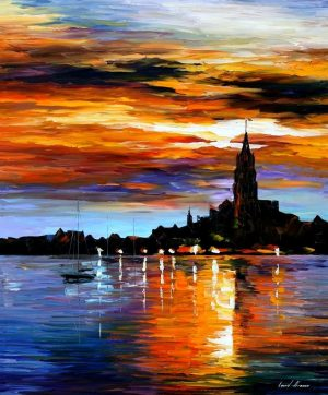 THE SKY OF SPAIN — oil painting