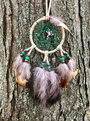 Frog Dream Catcher, Car Dream Catcher, Rearview Mirror