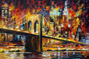 BROOKLYN BRIDGE — oil painting