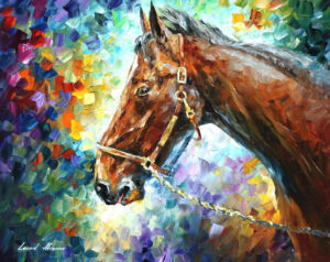 HORSE — oil painting