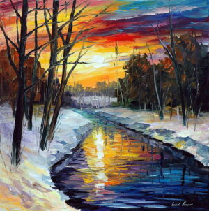 WINTER — oil painting