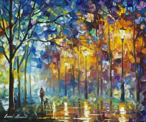 1 hour video lesson of Leonid Afremov— oil painting