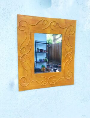 Easy DIY: Make a Decorative Framed Mirror Using Recycled Cardboard and a Glue Gun
