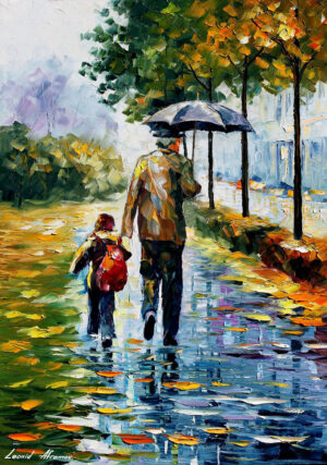 AFTER SCHOOL — oil painting