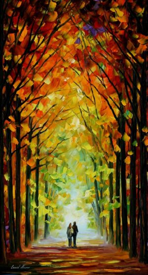 ALTAR OF TREES — oil painting
