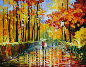 AUTUMN RAIN — oil painting