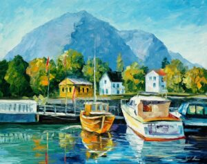 MEDITERRANEAN NOON— oil painting