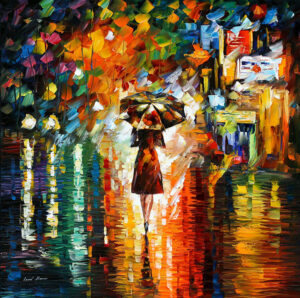 RAIN PRINCESS 1 — oil painting