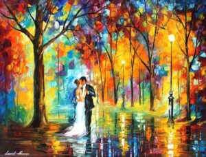 RAINY WEDDING— oil painting