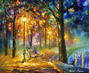 SINGING PARK — oil painting