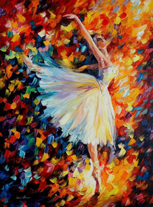 BALLET WITH MAGIC  — oil painting