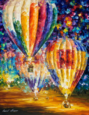 BALLOON AND EMOTIONS — oil painting on canvas