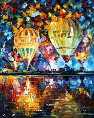 BALLOON FESTIVAL DAY — oil painting