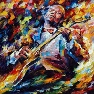 BB KING — oil painting