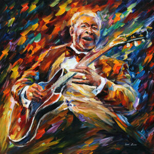BB KING BLUES — oil painting