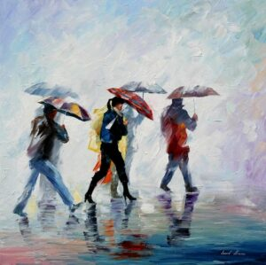 BEHIND THE FOG — oil painting