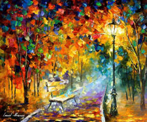 BENCH OF LOST LOVE — oil painting