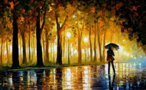 BEWITCHED PARK — oil painting