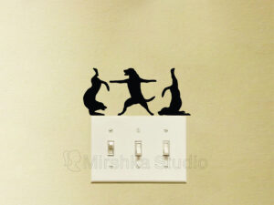 dogs doing yoga wall stickers
